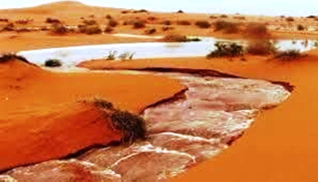 صورة أمطار على معظم الولايات الموريتانية.. 90 مم في الدار البيظه..
