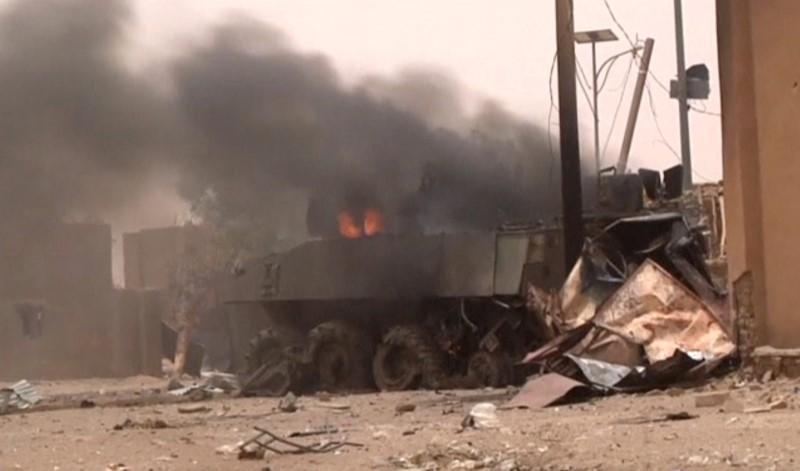 """صورة """"نصرة الاسلام والمسلمين"""":الهجوم على القوات الفرنسية رسالة إلى ماكرون قبيل زيارته لموريتانيا"""