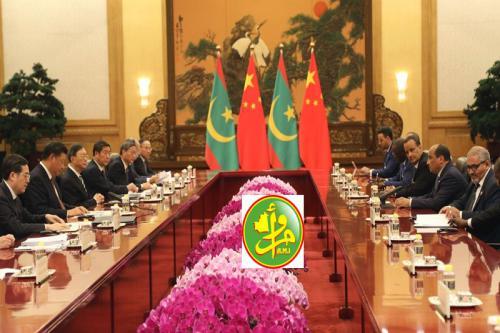 صورة مباحثات موريتانية صينية واتفاقيات تعاون في مجالات التنمية