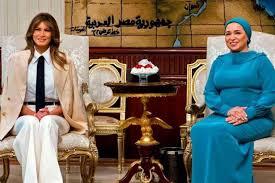 صورة ميلانيا ترامب تصل مصر في ختام جولة أفريقية