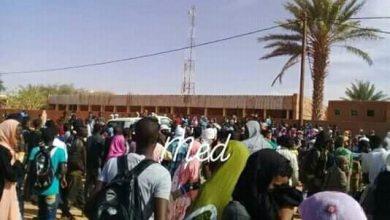 صورة احتجاجات في تيجكجه وسط موريتانيا على رفع أسعار الخدمة الطبية..