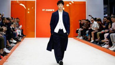 صورة عرض لأحدث تصميمات ملابس الرجال لمجموعات ربيع/صيف 2020 في أسبوع الموضة بلندن