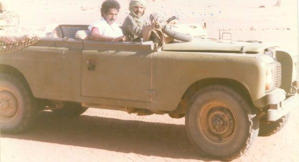 في سيارة عسكرية للبوليساريو