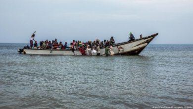 صورة غرق قارب يحمل عشرات المهاجرين غير الشرعيين قبالة سواحل موريتانيا