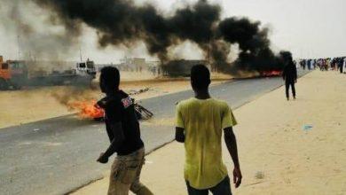 صورة تجدد الاحتجاجات بمدينة الشامي والسلطات تستعين بوحدات من الجيش(صور)