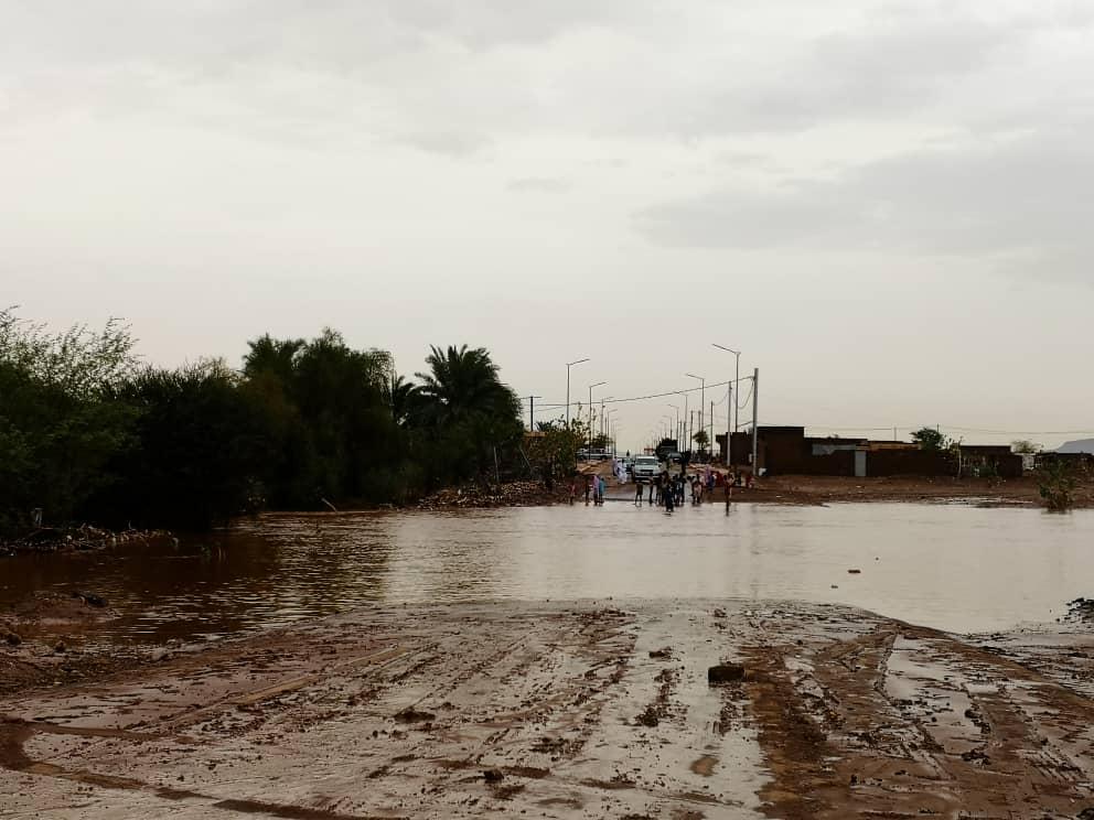 صورة خسائر مادية في بعض احياء مدينة اكجوجت جراء الامطار الاخيرة
